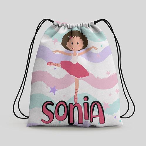 Mochila saco infantil Bailarina