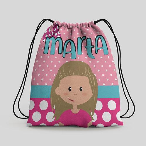 Mochila saco infantil Minnie