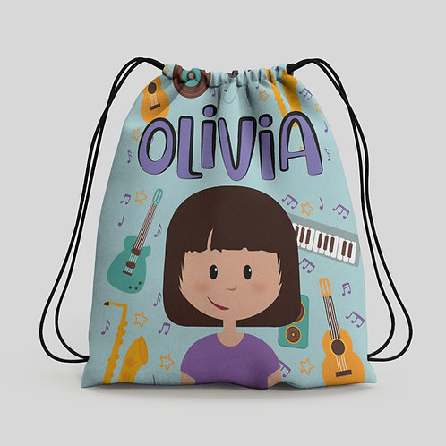 Mochila saco infantil Música