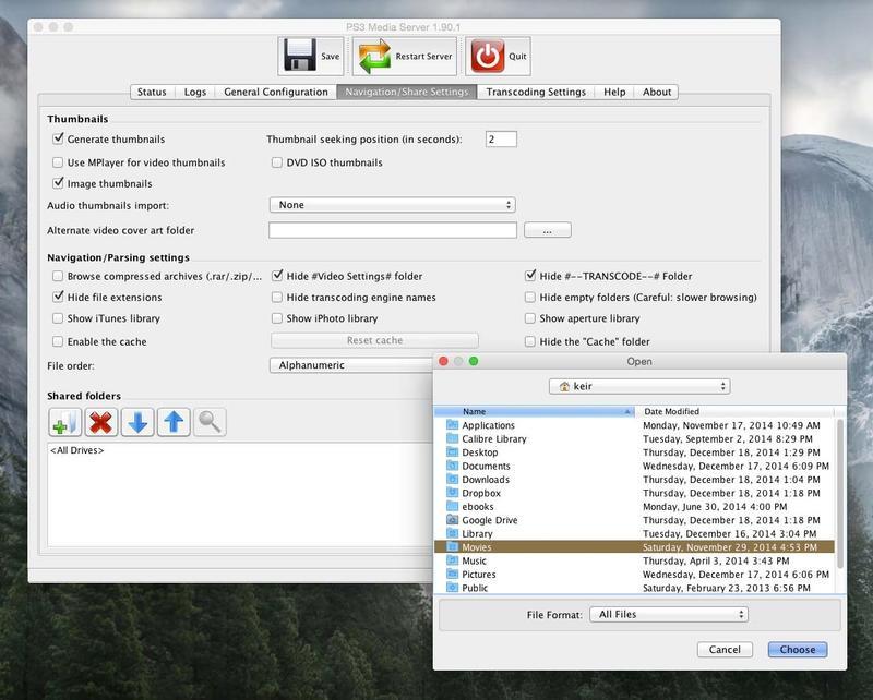 ใช้Ps3 Media Server บน Mac
