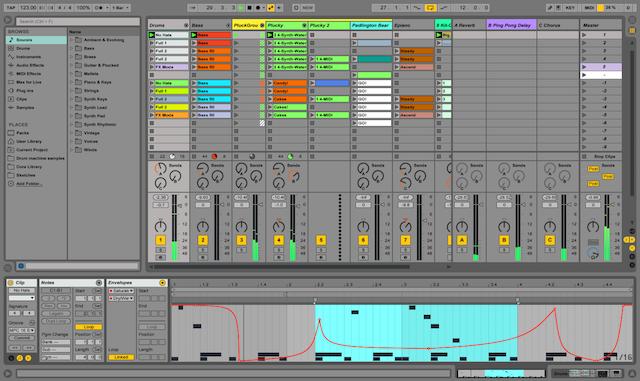 หน้าจอ  Session View บน Ableton Live  | InEarBeat