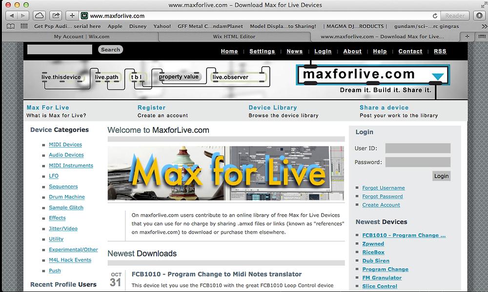 เวบไซด์ Max for Live   InEarBeat