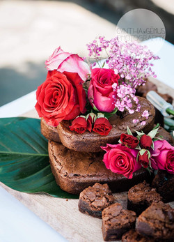 puredeadbrilliant chocolate brownies wedding cake
