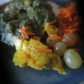 Menu complet #Curry vert