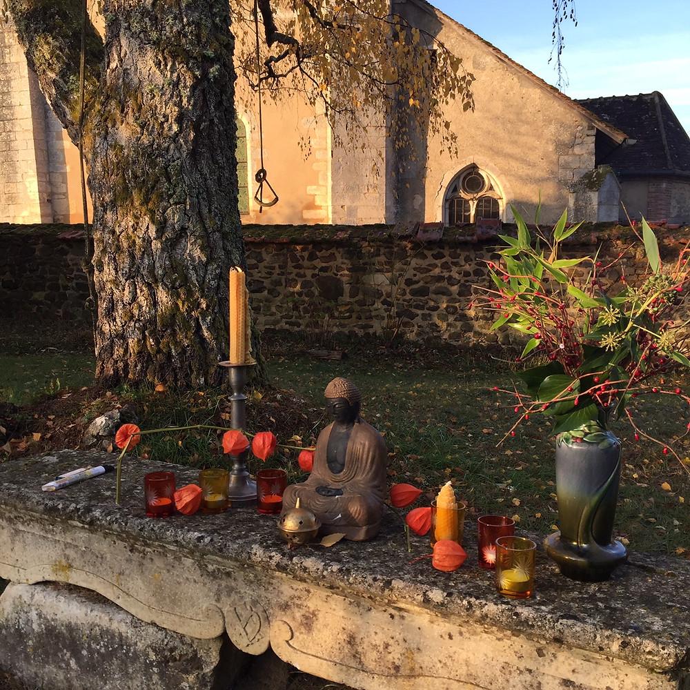 L'autel de cérémonie de gratitudes  aux ancêtres