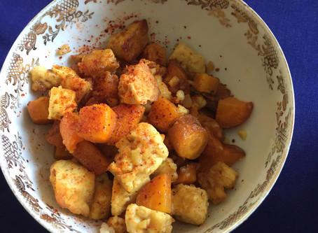 Sauté de carottes au tempeh #orange # salé # doux # piquant #sauté