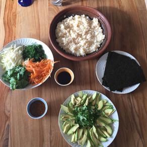 Temaki #sushi végétaux # vegan sushi