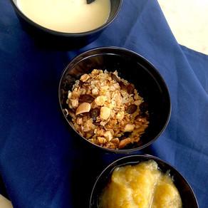 le petit déjeuner occidental  #lait végétal #porridge de céréale #neutre #doux #acide