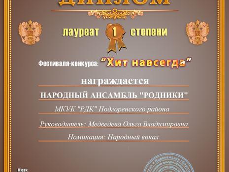 Коллективы РДК приняли участие в фестивале-конкурсе «ХИТ НАВСЕГДА»