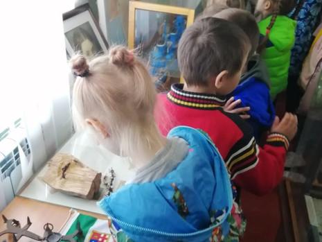 Воспитанники детского сада №1 посетили музей в преддверии Дня Победы