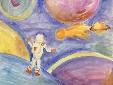 Выставка творческих работ учащихся «Космические дали»
