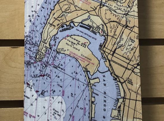 Vertical sign - Coronado Map