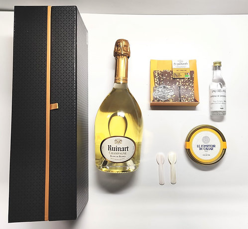Coffret Ruinart - Caviar - Blanche - Chocolat