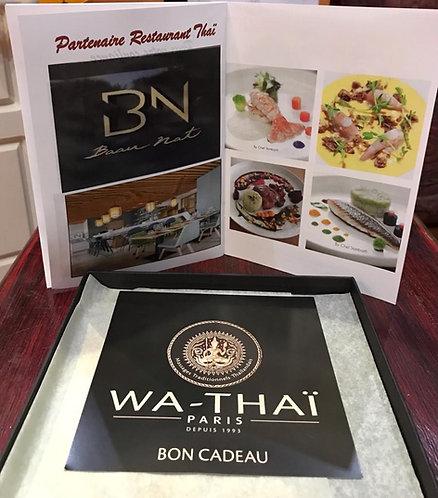 1h de massage chez WA THAÏ + 1 menu chez BAAN NAT