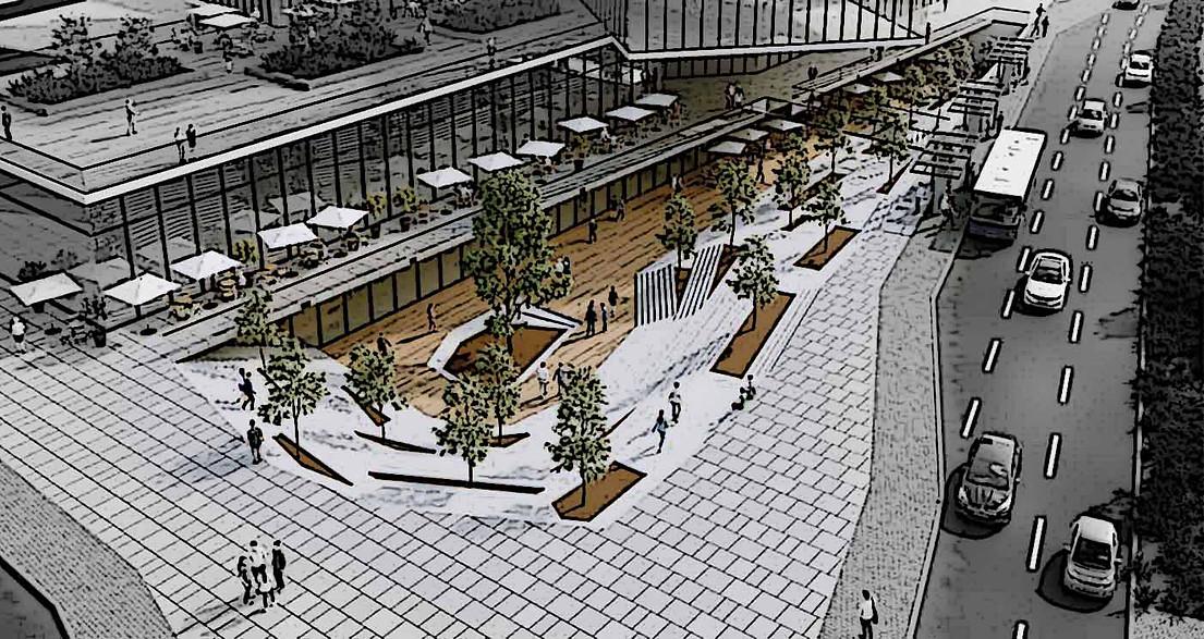 תחנה מרכזית פתח תקווה  עיצוב מתחמים עירו