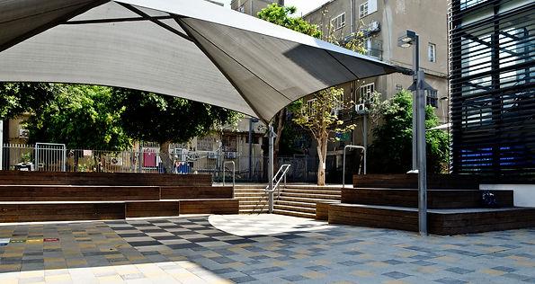 חצר בית ספר בלפור מרחבים אדריכלות נוף למ
