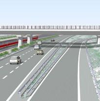 מחלף 431 180 פיתוח עבודות תשתית תכנית אב