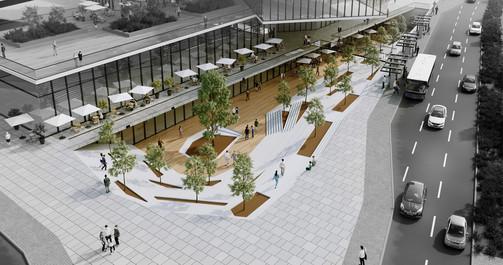תחנה מרכזית פתח תקווה טרמינל עיצוב מתחמי