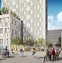 כיכר דקר  יפו עיצוב מתחמים עירוניים מרחב