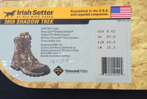 375884b3 Ботинки Irish Setter (США), для охоты и рыбалки