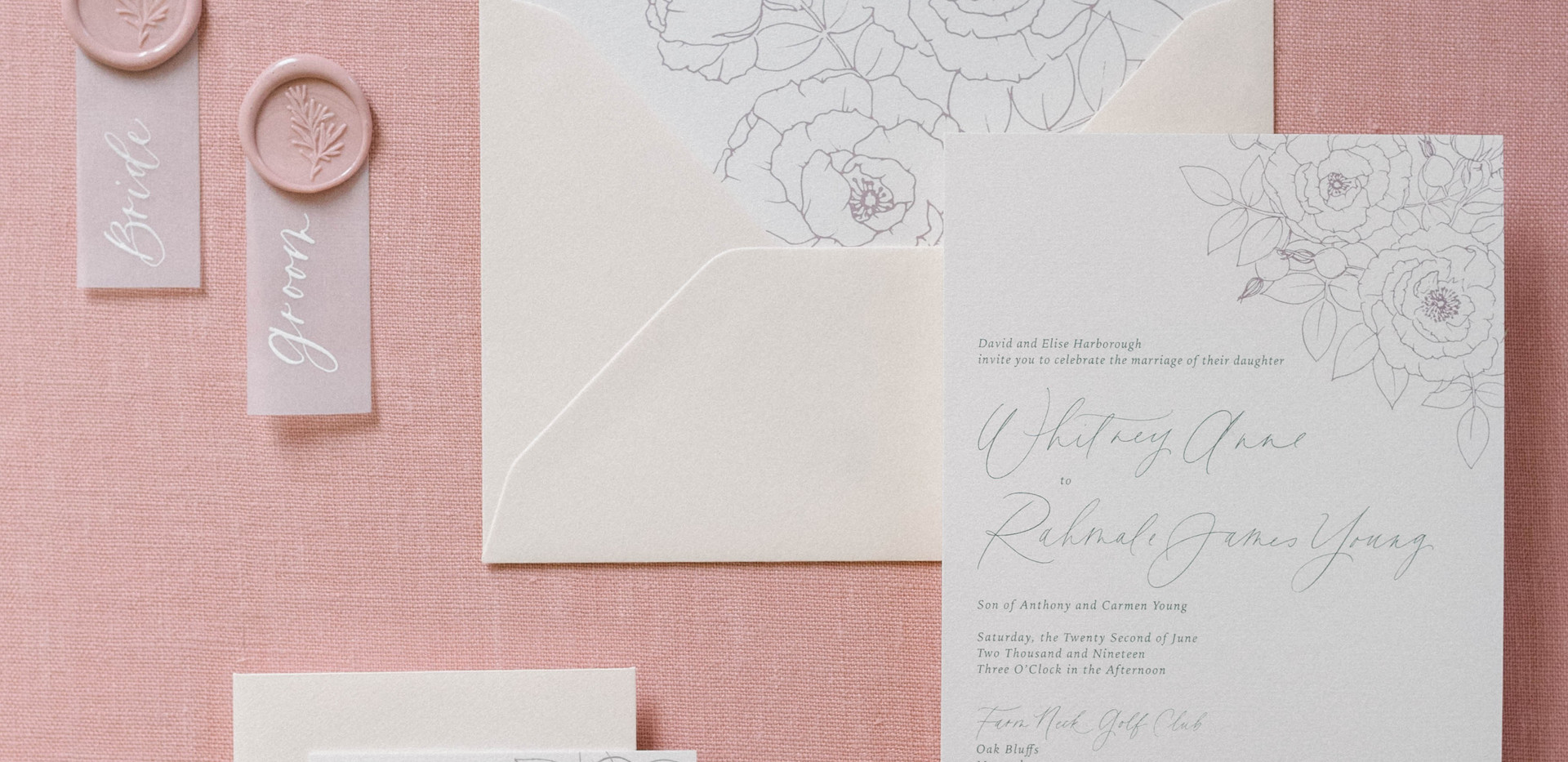 Martha's Vineyard wedding invitations