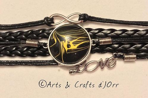 5-Strand Leather Braided Bracelet