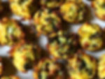 Mini hash brown frittatas with veg. -_-_