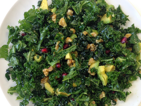 Kale, Walnut and Avocado Salad