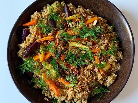 Christmasy Quinoa Salad
