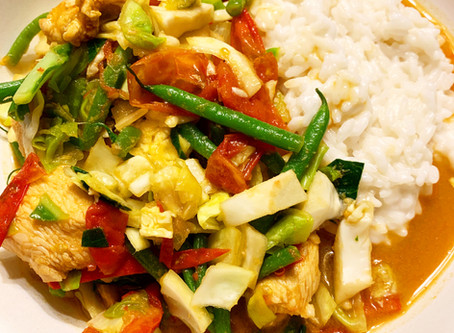 ♨Thai Chicken Curry with Sticky Coconut Rice