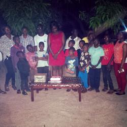 Celebrating birthdays with orphans