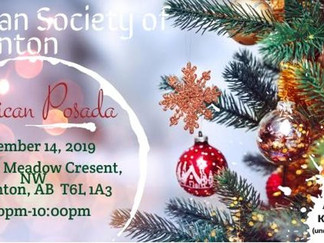 Come Celebrate with us at the Mexican Society of Edmonton's Xmas Party!