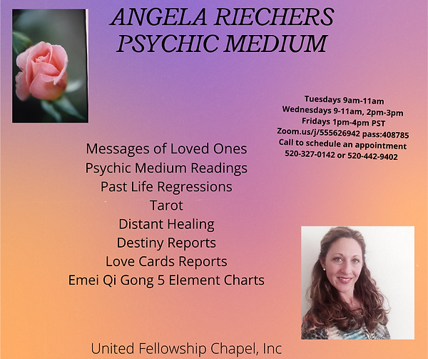 Angie's Readings, messages of loved ones