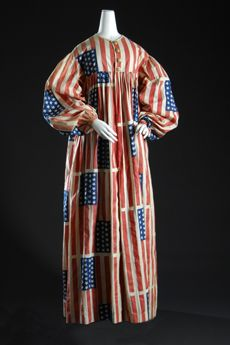 c. 1889 Patriotic Dress celebrating the Dakota Territories becoming a state