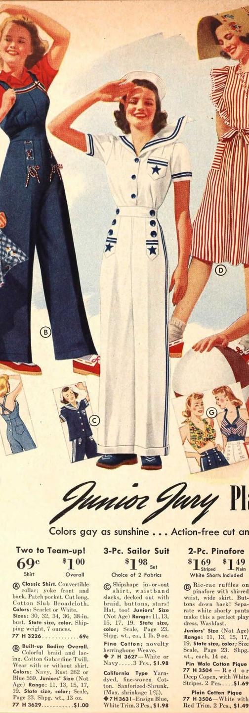1940s fashion catalog