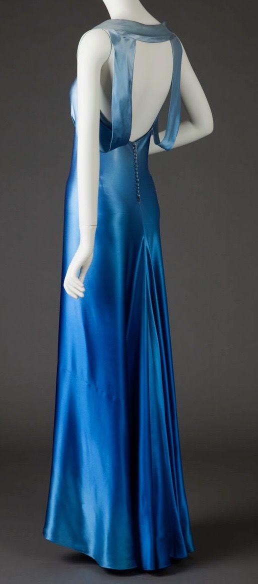 1930s bias cut silk dress
