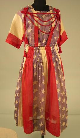 1917-1918 WWI war bonds dress, Oakland Museum of California