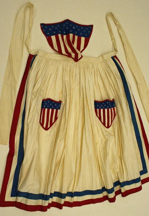 Union apron, c.1860s, Metropolitan Museum of Art
