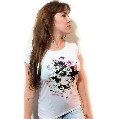 Camiseta Feminina Branca Catrina