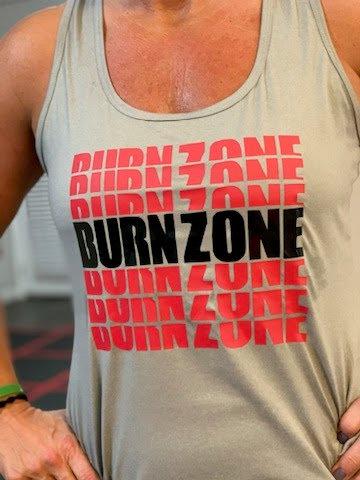 Burn Zone Tank Top (Repeating Pattern)