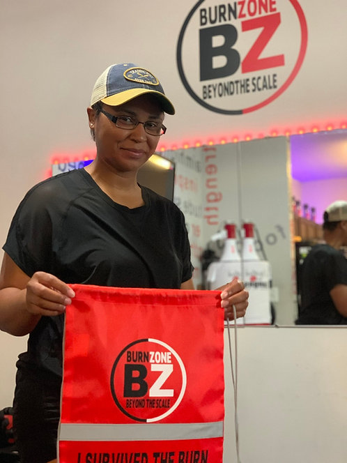 Burn Zone Drawstring Bag