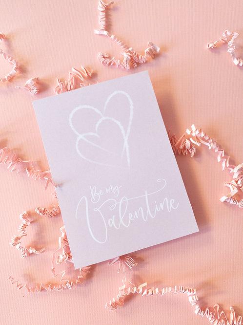 "Grußkarte ""Be my Valentine"""