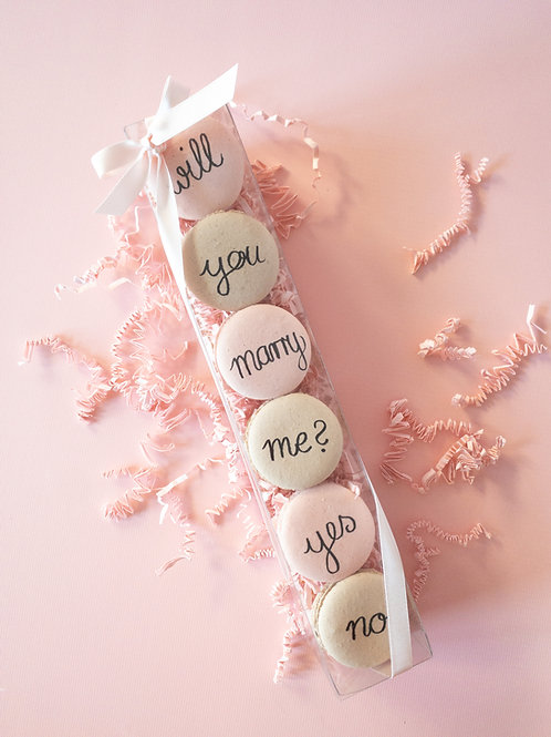 """will you marry me"" Macarons"