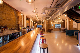 Lower floor event space and Sama Bankside, London