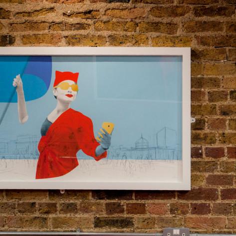 Artwork by Heath Kane, SAMA Bankside, Southwark London