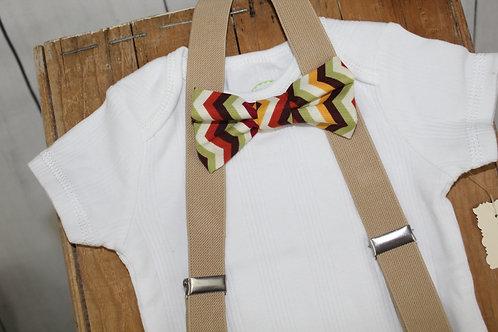 Fall Bowtie Suspender set