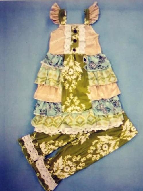 Super Ruffly Dress & Capri Set