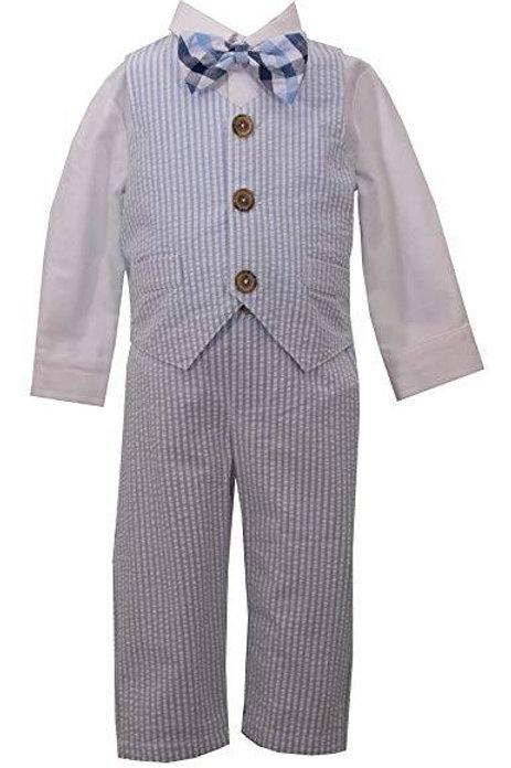 4 Piece Seersucker Suit