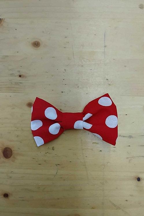 Mickey polka dot bowtie clip