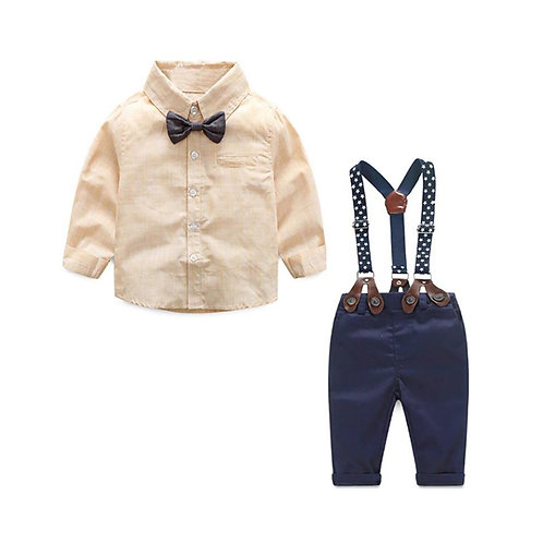 Navy/Tan Suspender Set